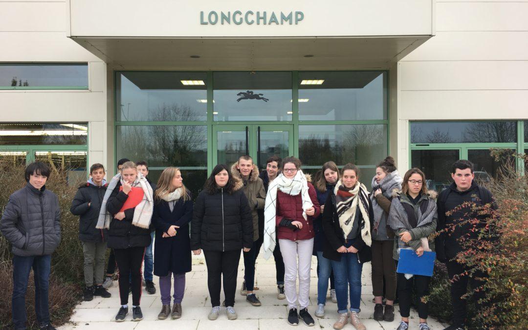 Visite de l'entreprise LONGCHAMP à Ernée