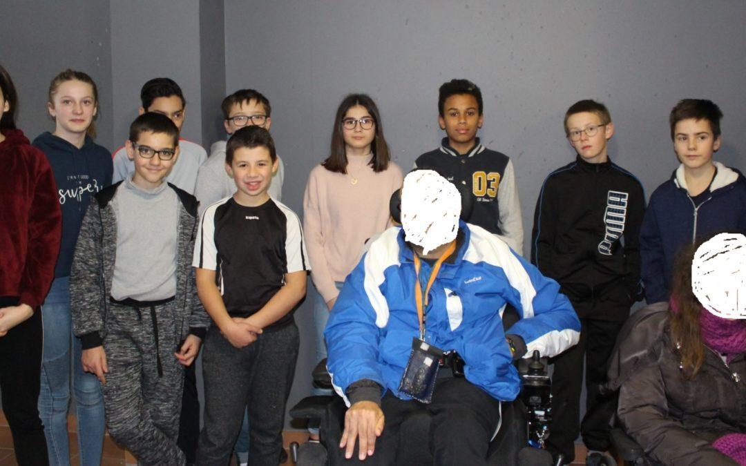Le projet handicap classe 5ème  A